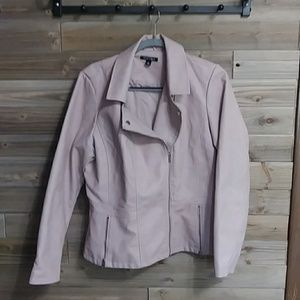 Faux Leather Rose Colored roz&ALI Jacket